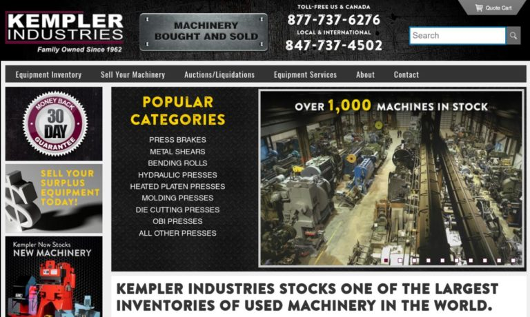 Kempler Industries Hydraulic Press & Used Machinery